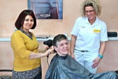 Begleitung zum Friseur